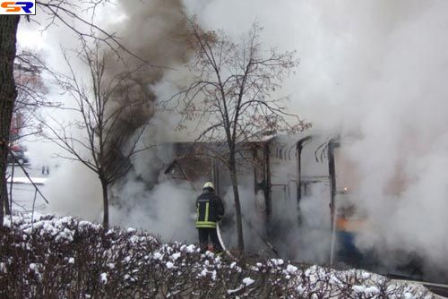 Пожар вавтобусе вВильнюсе. ФОТО