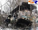 ДТП в Черниговской области: рейсовый автобус встретился с грузовым автомобилем и занялся. ФОТО.