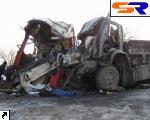 """В Николаевской области """"Икарус"""" встретился с """"КАМАЗом"""" - умерло 3 человека. ФОТО."""