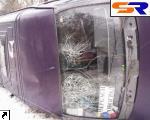 В Черкасской области опрокинулось маршрутное такси.