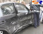 На Правом краю встретились 3 иностранные автомашины. ФОТО.