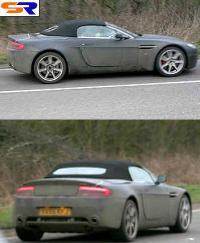 Автомобиль с откидным верхом Астон Мартин V8 проходит проверки