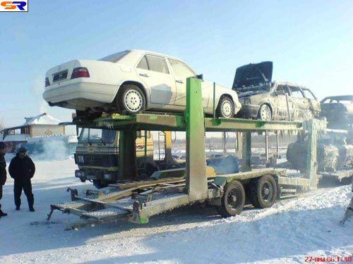 Так перевозят автомобили. ФОТО
