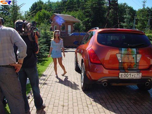 Наташа Королёва иее расписанное авто. ФОТО