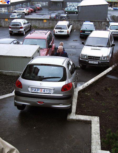 Прекрасная автомобильная парковка. ФОТО