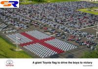 Действующие автозавода Тойота из 400 авто Ярис составили английский знак