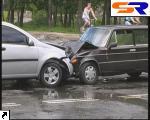 Фронтальное столкновение на улице Жмаченко.