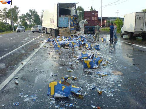 Исчезло очень много пива. ФОТО