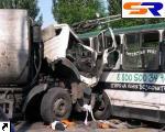 Столкновение троллейбуса и грузового автомобиля на Воздухофлотском проспекте.