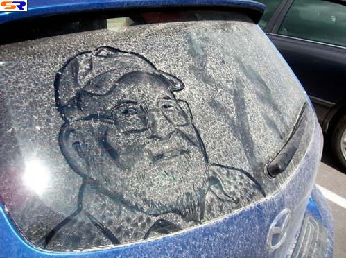 Чертежи нагрязных окнах. ФОТО
