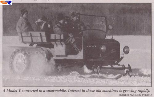 Одни изпервых вистории снегоходов. ФОТО