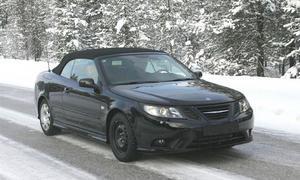Вышли разведывательные фото автомобиля с откидным верхом Сааб 9-3 2008