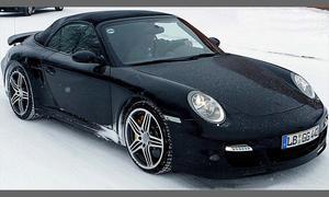Обретены разведывательные фото автомобиля с откидным верхом Порше 911 Турбо 2008