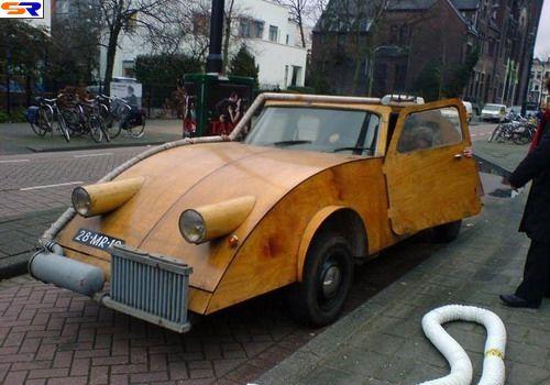 Деревянные автомобили. ФОТО