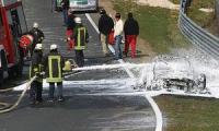 Образец супер-кара Ауди RS8 сгорел на Нюрбургринге