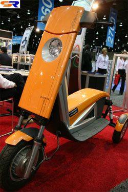 В Детройте продемонстрировали электро-водородный скутер