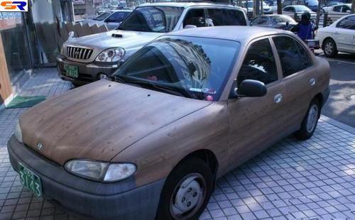 Сделанные из дерева авто. ФОТО