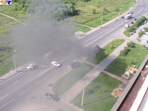 Как сгорают автомашины. ФОТО