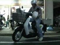 Развозка газет на Honda EV-neo
