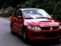Mitsubishi Lancer Evolution 9 - реклама со спортсменом