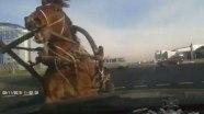 Лошадь VS автомобиль в Жлобино