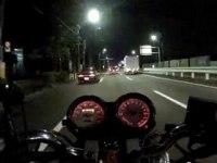 По ночному городу на Honda VTR 250