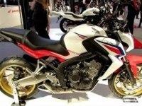 Honda CB650F на выставке в Милане