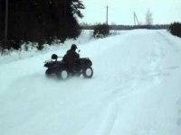 Дрифт по снегу на CFMOTO 500-2A