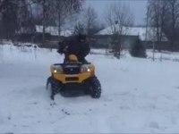 Преодоление снежных преград на CFMOTO CF500-2