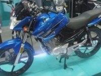 Yamaha YBR125 на выставке в Боготе