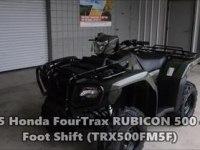 Любительское видео утилитарного квадроцикла Honda TRX500FM5F Foreman Rubicon