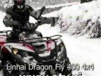 Чистка дороги на Linhai ATV400-2B (Dragon Fly 400)