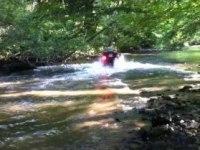 Движение по пруду на Linhai ATV550