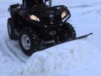 Уборка снега на CFMOTO CForce 450