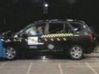 Краш-тест Kia Carens от EuroNCAP. Фронтальный удар