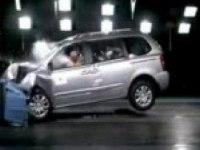 Краш-тест Kia Carnival от EuroNCAP. Фронтальный удар