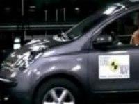 Краш-тест Nissan Note от EuroNCAP. Фронтальный удар