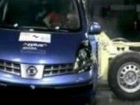 Краш-тест Nissan Note от EuroNCAP. Боковой удар