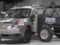Краш-тест Subaru Outback от IIHS (боковой удар)