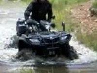 King quad 750 в воде