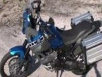 В движении Yamaha XT660Z Tenere