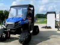 Polaris Ranger EV с гусеницами