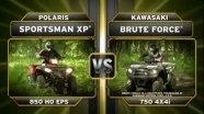 Сравнительный тест  Polaris Sportsman XP 850 H.O. и Kawasaki Brute Force 750 4x4i