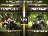 Сравнение Polaris Sportsman 400 H.O. и Honda TRX420FA Rancher