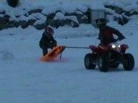 Polaris Outlaw 50 на снегу