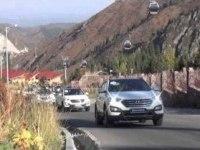 Испытание нового Hyundai Santa Fe 2012 в Казахстане