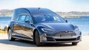 Tesla Model S превратили в роскошный катафалк - фото 5