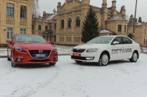 Тест-драйв {MARK} {MODEL}: Mazda 3 vs Skoda Octavia