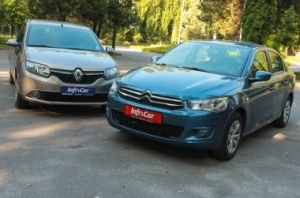 Тест-драйв {MARK} {MODEL}: Renault Logan vs Citroen C-Elysee