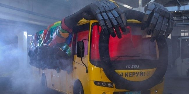 Автобус - призрак на дорогах Украины